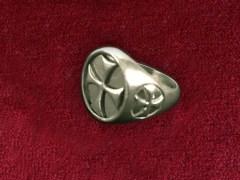 CROCE TEMPLARI IN ARGENTO brunito 925 sterling silver